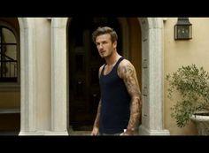 David Beckham posa para H en la calle y en ropa interior.