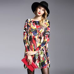 New 2016 Autumn Long Women Sweater Casual Coat Batwing Sleeve Print Women's Sweaters Clothes Pullovers Fashion Pullover Clothing