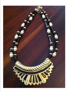 Alice Caviness Vintage Necklace and Earring by BlackPearlVintage