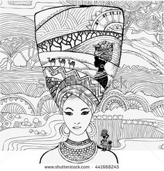 Coloring Book African Culture Download the app from here Google