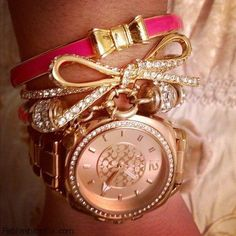 Coach watch and layering bracelets...love!