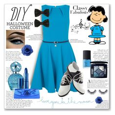 """Lucy Van Pelt: Diy Halloween Costume (Contest Entry)"" by constancejaurora ❤ liked on Polyvore featuring Closet, Natural Life, Marc Jacobs, NARS Cosmetics, Christian Dior, Lipstick Queen, Music Notes, Chanel, halloweencostume and DIYHalloween"