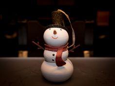 Snowman Ornament by Desktop_Makes - 3D printed Christmas