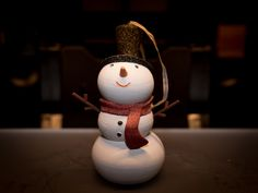 Snowman Ornament by Desktop_Makes - 3D printed Christmas