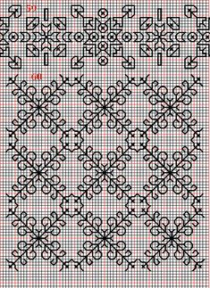 Embroidery and embroider: blackwork, plain fillings 59-62