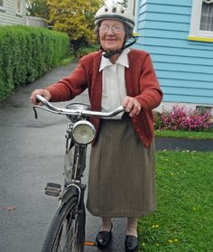 Octogenarian Nancy Blackman gets around on her trusty Raleigh bicycle that she has had for 67 years.