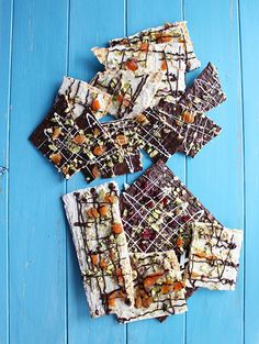 Chocolate Covered Matzo Bark with nuts and dried fruit for the Perfect ...