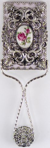 Silver Plate Hand Mirror