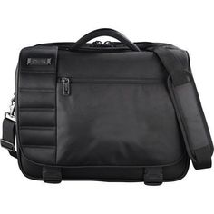 "Kenneth Cole Tech Black 15"" Laptop Computer Messenger Bag Great for MacBook Pro #KennethCo #computerbag"