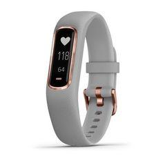 Garmin Vivosmart 4 Smart Fitness And Activity Tracker With Pulse Ox And Heart Rate Monitor Grey In Grey With Rose Gold - Grey Medium Fitness Tracker, Fitness Activity Tracker, Fitness Activities, Relaxation Breathing, Garmin Vivosmart Hr, Stress, Track Workout, Heart Rate Monitor, Style