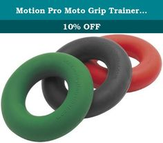 Motion Pro Moto Grip Trainer 30LB Resistance Green. Don't Let Your Grip Slip Away, Use Moto Grip Trainer Strengthen Grip and Forearm Muscles Anywhere - Your Car, Desk, Walking, Etc Helpful for All Forms of Riding: MX, Off Road, Trail, ATV, Road and Snowmobiles When Routinely Used in 3 Sets of 30 to 100 Reps, Moto Grip Trainer Noticeably Improves Finger-Hand-Forearm Strength and Endurance Built for High Repetition Endurance Training Offers 30 Lbs of Resistance Includes One Grip Trainer .