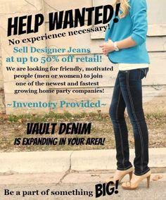 Vault Denim - Help Wanted flyer!