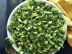 This salad is absolutely chock-full of lovely green spring produce, with textures ranging from crunchy to creamy. You can make the zippy ...