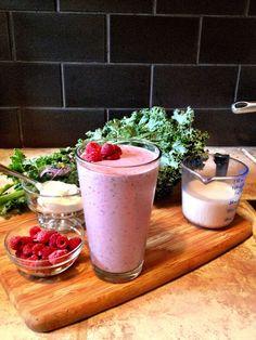 Kale Raspberry Smoothie