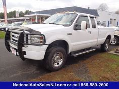 Model: 2006 Ford Super Duty F-250   Price: $16,995    COLOR    Oxford White /Dark Flint    MILES    138,737    Engine    5.4 ci    Trans    5-Speed A/T    Stock #    S063331    VIN    1FTSX21586EA43331      Call National Auto Sales today: (856) 589-2600     Ask for Bill