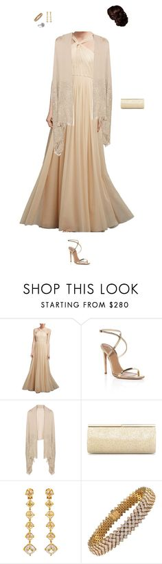 """""""Attending a gala dinner in Florence, Italy"""" by mariana850 ❤ liked on Polyvore featuring Donna Morgan, Aquazzura, Valentino and Jimmy Choo"""