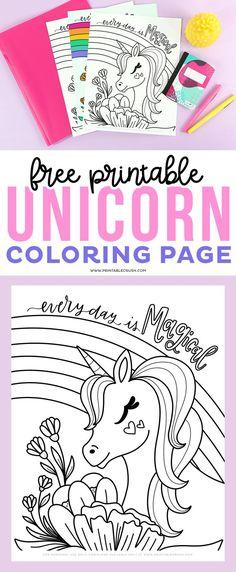 Free Printable Unicorn Coloring Page - Printable Crush