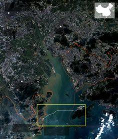 Three cities, one bridge - South China Morning Post. Hong Kong-Zhuhai-Macao Bridge, 55 km, world's longest cross-sea bridge Pearl River Delta, Zhuhai, Morning Post, Macau, Future City, Bridges, Infographics, Detroit, Hong Kong