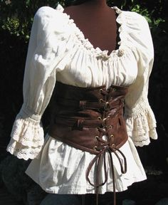 Will need the pirate style corset! I would love to wear this as a costume!