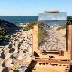 - landscape painting by by treklexington Painting Inspiration, Art Inspo, Art Hoe Aesthetic, Applis Photo, Painting & Drawing, Landscape Paintings, Cool Art, Art Projects, Art Drawings