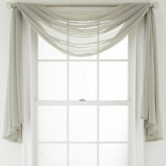 How To Hang Curtains With A Valance Windows Pinterest Scarf Curtains Design And Curtains