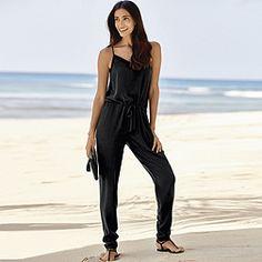 Silk Jumpsuit - Black
