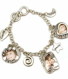 Toggle Style Bead Picture Frame Charm Bracelet Add Your Own Photos Sabz Jewelry. $19.99. toggle style  bracelet add your own photos. toggle bracelet photo charms. small charm photo holders for your pictures 20 mm wide. will make a wonderful gift idea. nickel and lead free. Save 33%!