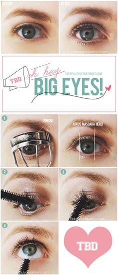 3 tips for big eyes look