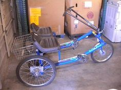 """Workman Cycle Side by Side """"Team Dual"""" Trike Tricycle with Rear Basket 