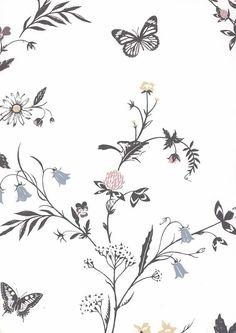 floral prints landhaus tapeten blumenranken in 2018 beautiful wallpaper tapeten pinterest. Black Bedroom Furniture Sets. Home Design Ideas