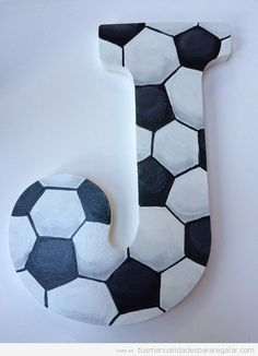 Sports Hand paintd Personalized Nursery / Children's / Kid's/ Teen's Room Decor Hanging Letters Soccer Theme by KarinsCustomCrafts on Etsy Boys Soccer Bedroom, Soccer Room Decor, Baby Boy Room Decor, Teen Room Decor, Baby Boy Rooms, Kids Bedroom, Bedroom Ideas, Baby Room, Trendy Bedroom