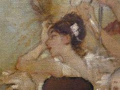 WILLETTE Adolphe,1884 - Parce Domine - Detail 068 : Français : Une coquette jeune femme arrangeant ses cheveux  English: - A pretty young woman fixing her hair- Montmartre -