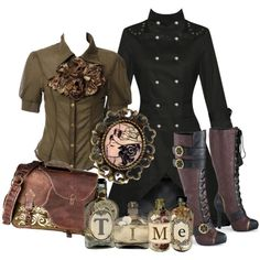 """Steamy Steampunk"" by skull-and-crossbone on Polyvore"