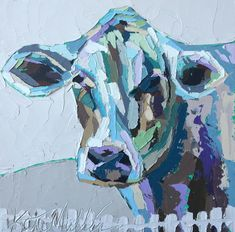 Kate Mullin Williford Art features oil paintings by the Charleston Artist, Kate. Her works has a graphic painterly feel with thick paint texture. Cow Painting, Encaustic Painting, Texture Painting, Farm Animals, Cute Art, Pop Art, Moose Art, Art Gallery, Canvas Art