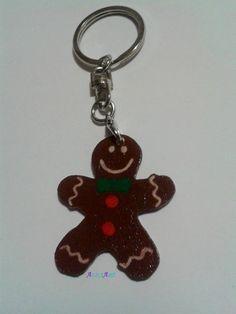 Porte clés Monsieur Biscuit en plastique fou : Porte clés par aliciart
