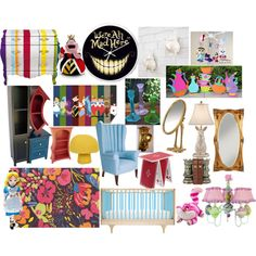 Alice in Wonderland nursery round 2 by molly-pop on Polyvore featuring interior, interiors, interior design, home, home decor, interior decorating, Vincent Leman, Seletti, Anne-Claire Petit and Dash & Albert