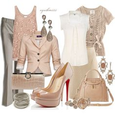 """""""Nude Peep Toe Pumps"""" by cynthia335 on Polyvore"""