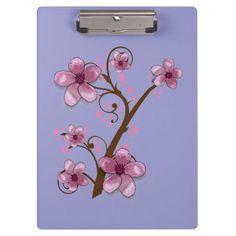 Beautiful Custom Floral Clip Board