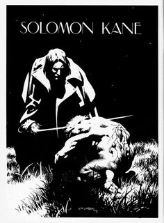 Solomon Kane illustration by Bernie Wrightson, from Kull and the Barbarians #2, published by Curtis/Magazine Management Co., July 1975.