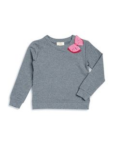 Kate Spade Girls 2-6x Tulle Ribbon Pullover  Grey 3