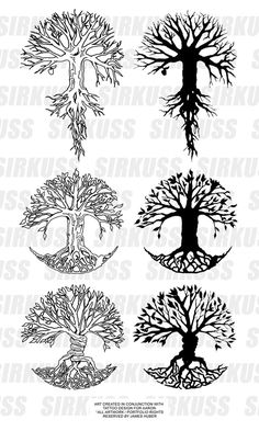"Potential tattoo ideas... 2nd on the right... ""Like branches on a tree we grow in different directions yet our roots remain the same"""
