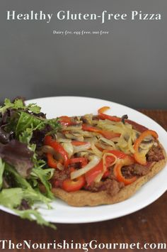 I love how simple this gluten-free pizza is to make! I can finally enjoy pizza again!
