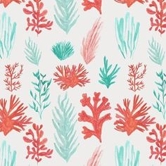 Watercolor pattern I did a few years ago for the Great Barrier Reef. Happy Australia Day! #australia #greatbarrierreef #pattern #painted #botanical #watercolor #australiaday #coral #seaweed #plants # #surfacepattern #art #design #abmcrafty #abmlifeiscolorful