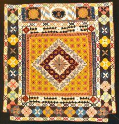 Couvre-lit en patchwork et du quilting.  Peut-être Exter, en Angleterre, de 1690 à 1720.  V & A Museum