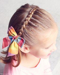The Dutch Lace Headband Braid – Side Ponytail Hairstyles, Ponytail Girl, Girl Hair Dos, Baby Girl Hairstyles, Kids Braided Hairstyles, Dress Hairstyles, Cool Hairstyles, Kid Hair, Little Girl Braids