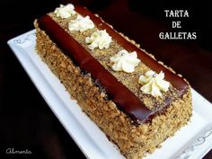 TARTA DE GALLETAS 2 CHOCOLATES Y OTRA