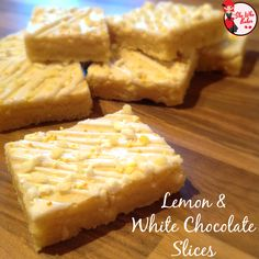 Lemon and White Chocolate Slices - She Who Bakes