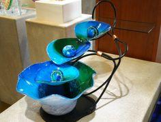 Blown glass fountain