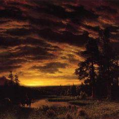 Albert Bierstadt, Evening on the Prairie (1870).