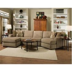 Chelsea Home Furniture Brady Sectional With Accent Pillows Left Arm Facing  Chaise Armless Sofa And Right Arm Facing Cuddle Chaise In Harem Stone